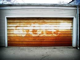 What is causing rust on my garage door?