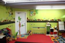 Garage converted in a playroom